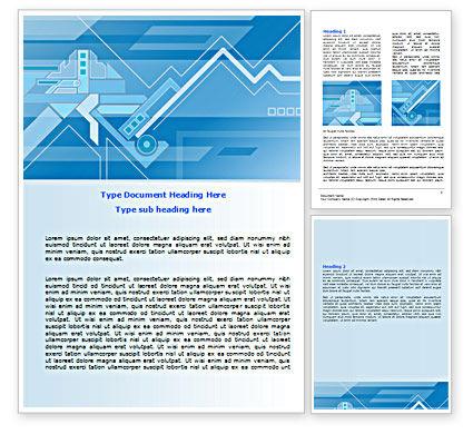 Abstract Technological Word Template, 07379, Business — PoweredTemplate.com