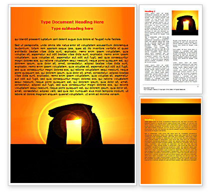 Megaliths Word Template, 07389, Religious/Spiritual — PoweredTemplate.com