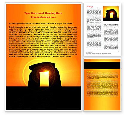 Religious/Spiritual: Megaliths Word Template #07389