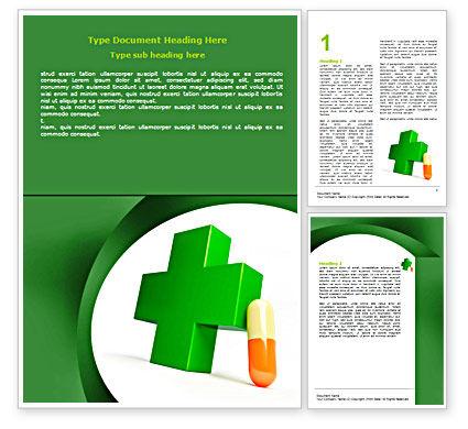 Pharmacy Word Template, 07396, Medical — PoweredTemplate.com