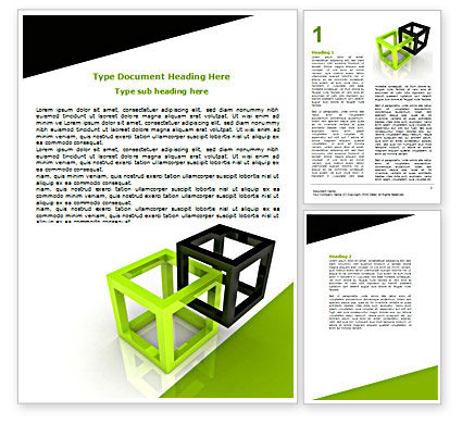 Integrated Cubes Word Template, 07398, Consulting — PoweredTemplate.com