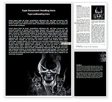 Smoke Skulls Word Template, 07402, General — PoweredTemplate.com