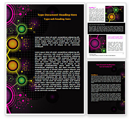Technology, Science & Computers: Abstract Networking Design Word Template #07411