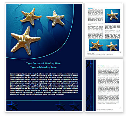 Starfish Background Word Template