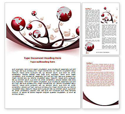 Nature & Environment: Growing Earth Fruits Word Template #07418