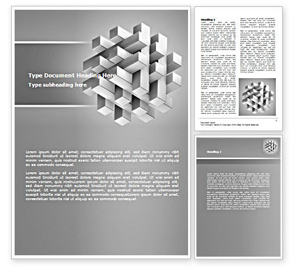 Stable Structure Word Template, 07419, Consulting — PoweredTemplate.com