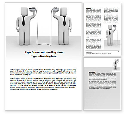 Communication Means Word Template, 07425, Telecommunication — PoweredTemplate.com