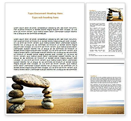 Religious/Spiritual: Balanced Stone Gate Word Template #07427