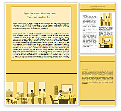 Office Work Activity Word Template, 07429, Business — PoweredTemplate.com
