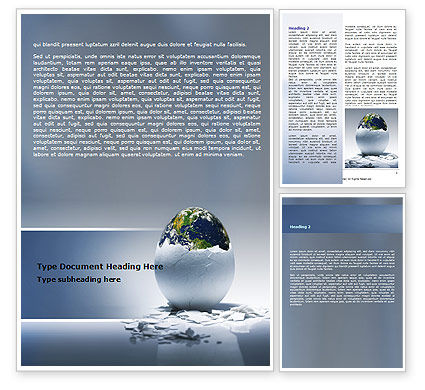 Earth Egg Word Template, 07439, Business Concepts — PoweredTemplate.com