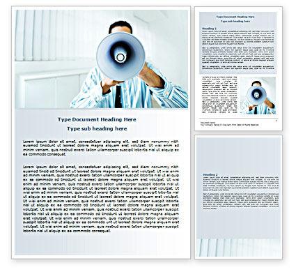 Loud Hailer Word Template, 07444, Business — PoweredTemplate.com