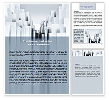 Construction: Urban Architecture In Gray Color Word Template #07451