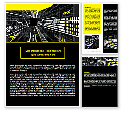 Flows Word Template, 07462, Technology, Science & Computers — PoweredTemplate.com