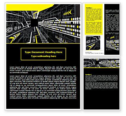 Flows Word Template, 07462, Technology, Science & Computers — PoweredTemplate.com