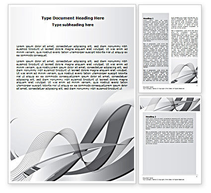 Abstract/Textures: Gray Stripes Word Template #07463