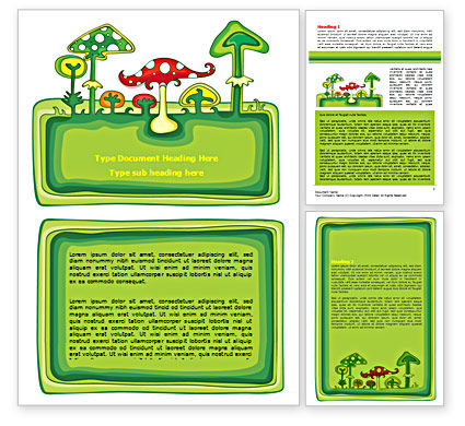 Amanita Word Template, 07464, Education & Training — PoweredTemplate.com
