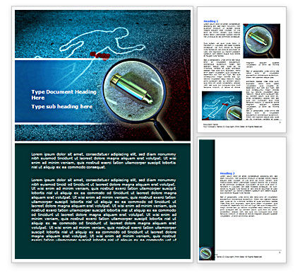 Crime Scene Investigation Word Template, 07467, Legal — PoweredTemplate.com
