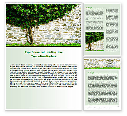 Nature & Environment: Tree On The Wall Word Template #07468