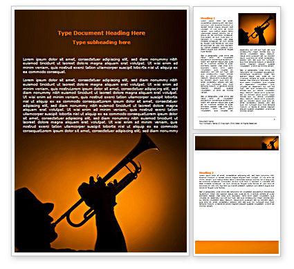 Art & Entertainment: Trumpeter Word Template #07469