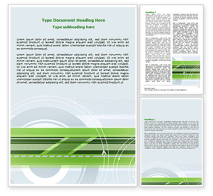 Business: Turning Wheel Word Template #07474