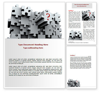 3 Dimensional Puzzle Word Template, 07476, Consulting — PoweredTemplate.com