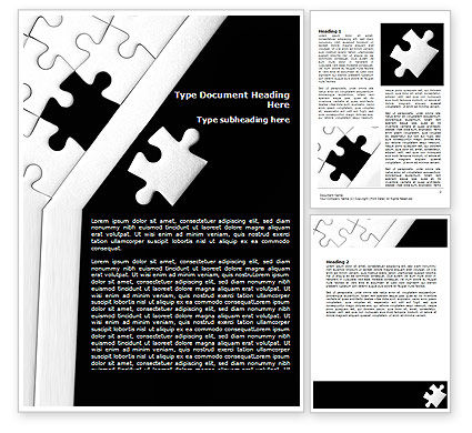 Contrast Puzzle Word Template, 07477, Consulting — PoweredTemplate.com
