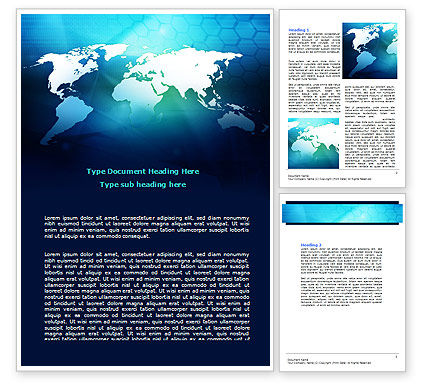 Cells Of World Word Template, 07480, Global — PoweredTemplate.com