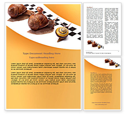 Races Word Template, 07493, Consulting — PoweredTemplate.com