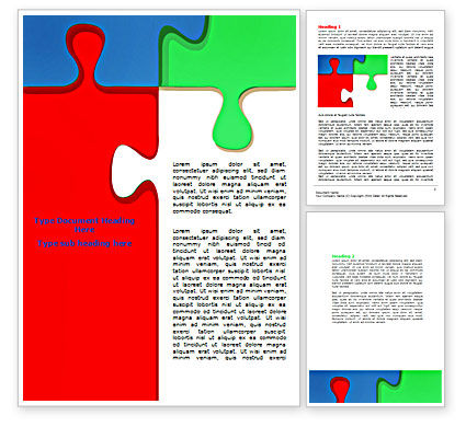 Color Puzzle Word Template, 07494, Consulting — PoweredTemplate.com