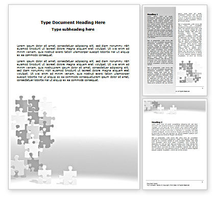 Consulting: Tower Of Puzzle Word Template #07496