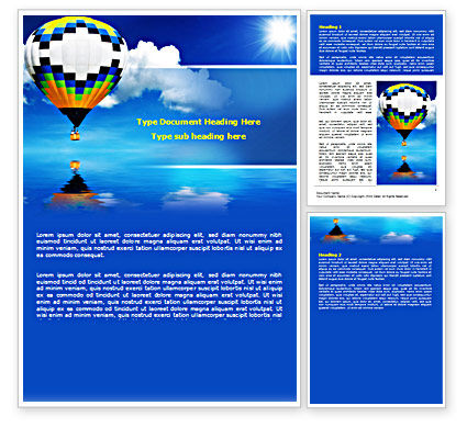 Business Concepts: Air Balloon Word Template #07498