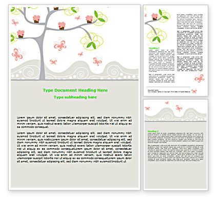 Spring Tree Word Template