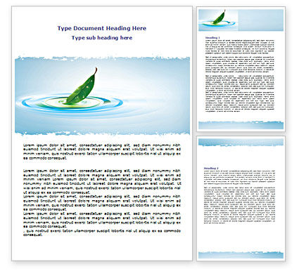Nature & Environment: Spring Leaf Word Template #07504