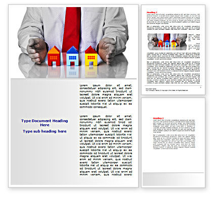 Careers/Industry: Real Estate Agent Word Template #07506