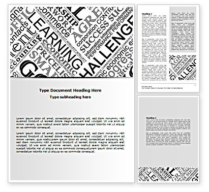 Education & Training: Business Terms Word Template #07510