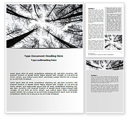 Winter Trees Word Template, 07514, Nature & Environment — PoweredTemplate.com