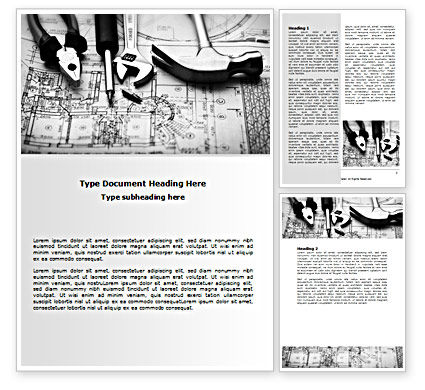 Tools and Draft Word Template, 07516, Utilities/Industrial — PoweredTemplate.com