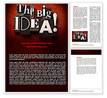 The Big Idea Word Template, 07522, Consulting — PoweredTemplate.com