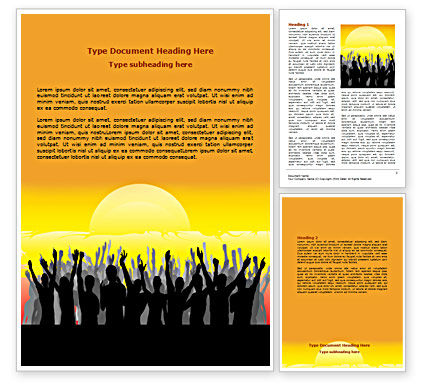 People: Sun Worship Word Template #07524