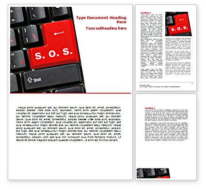 High-Tech Help Word Template, 07526, Technology, Science & Computers — PoweredTemplate.com