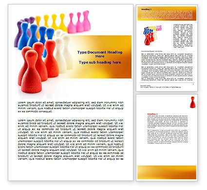 Markers Word Template, 07530, Business Concepts — PoweredTemplate.com