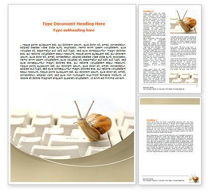 Sluggish Snail Word Template, 07531, Technology, Science & Computers — PoweredTemplate.com