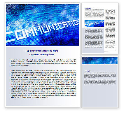 Communication Stream Word Template, 07535, Telecommunication — PoweredTemplate.com