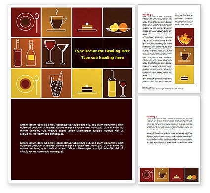 Careers/Industry: Food Menu Word Template #07538