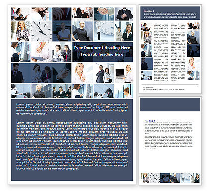 Careers/Industry: Office Life Collage Word Template #07541