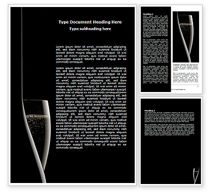 Dark Wine Word Template, 07543, Food & Beverage — PoweredTemplate.com