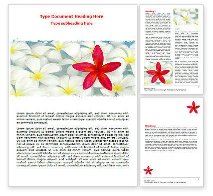 Spring Flowers Word Template, 07544, Business Concepts — PoweredTemplate.com