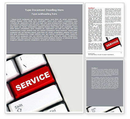 Careers/Industry: High-Tech Service Word Template #07549