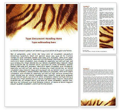 Agriculture and Animals: Tiger Skin Word Template #07552
