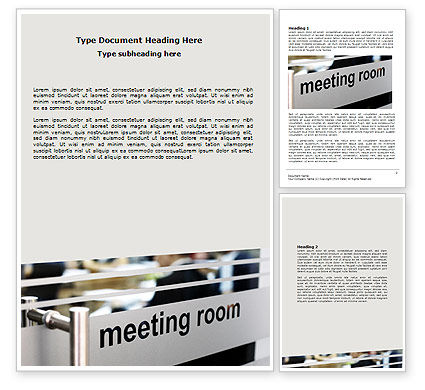 Business: Meeting Room Word Template #07553